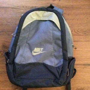 Nike 2 Pocket Blue Backpack Knapsack